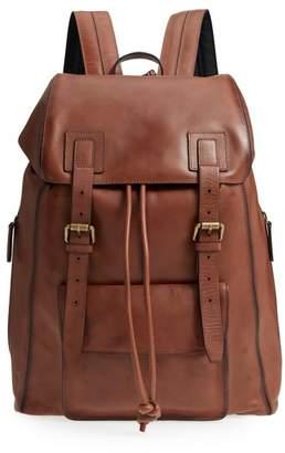 John Varvatos Heritage Leather Backpack
