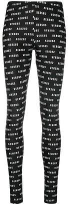 Versus logo print leggings