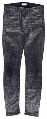 Mother Metallic Skinny Pants