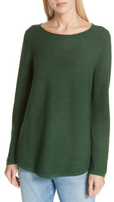 Eileen Fisher Ballet Neck Fine Gauge Merino Tunic Sweater