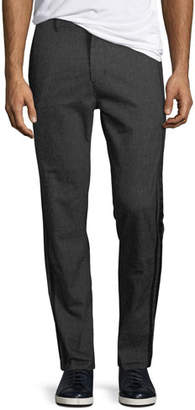 John Varvatos Men's Flat-Front Pants with Tonal Side-Taping