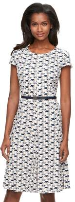 Jessica Howard Women's Geometric A-Line Dress