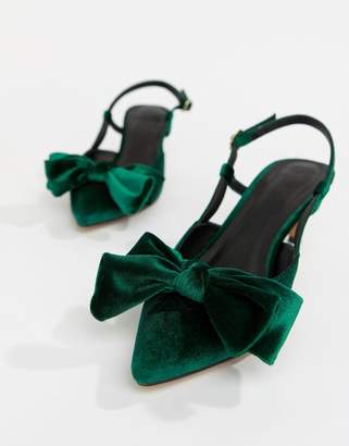Asos Design DESIGN Sherry bow kitten heels