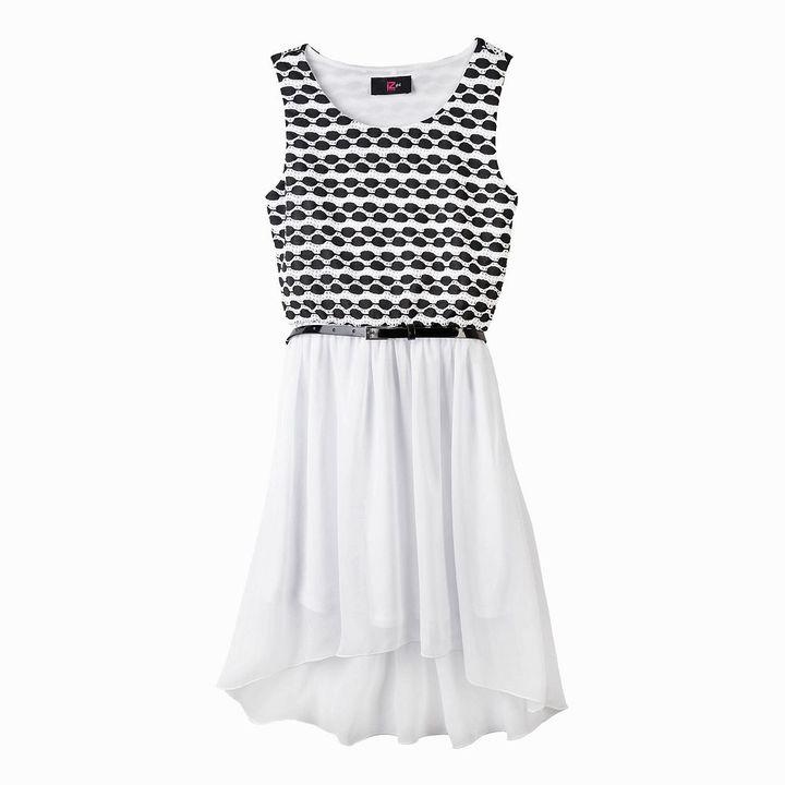 Amy Byer Iz belted hi-low dress - girls 4-6x