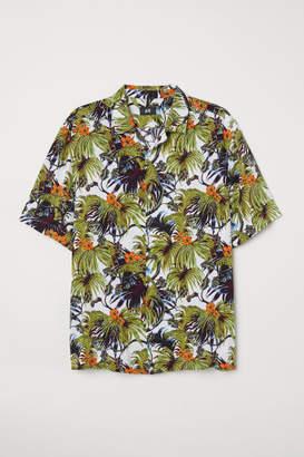H&M Relaxed Fit Resort Shirt - Orange