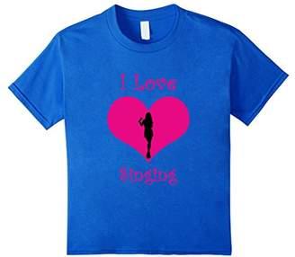 Girly I love singing pink heart T-Shirt