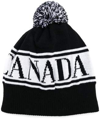 Canada Goose Kids logo intarsia knit hat