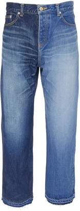 NOVE Colourblock straight leg jeans