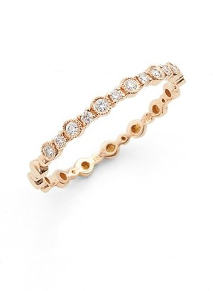 Women's Bony Levy 'Gianna' Diamond Stacking Ring (Nordstrom Exclusive) $795 thestylecure.com