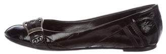 Christian Dior Patent Leather Buckle Flats