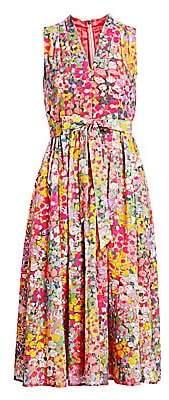 Kate Spade Women's Floral Tie-Waist A-Line Dress