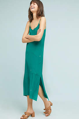 Cardinal Handpainted Silk Slip Dress