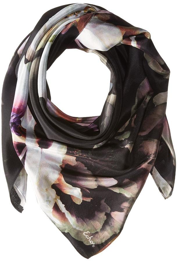 Echo Design - Icy Flora Silk Square Scarves