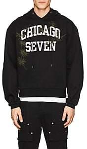 "Oamc Men's ""Chicago Seven"" Cotton Hoodie-Black Size S"