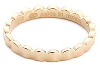 Fred 'Une Ile d'Or' 18k yellow gold scalloped ring