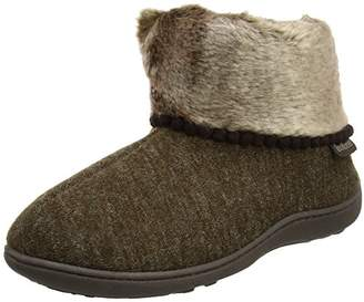 Isotoner Women''s Fine Knit Boot Slippers Hi-Top (Brown), 37 EU