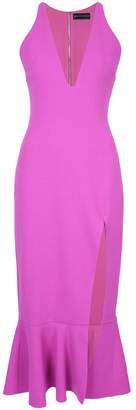 David Koma V-neck fitted dress