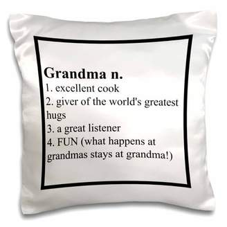 3dRose Definition of Grandma saying, Pillow Case, 16 by 16-inch