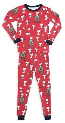 BedHead Unisex Printed Holiday Pajama Shirt & Pants Set - Little Kid