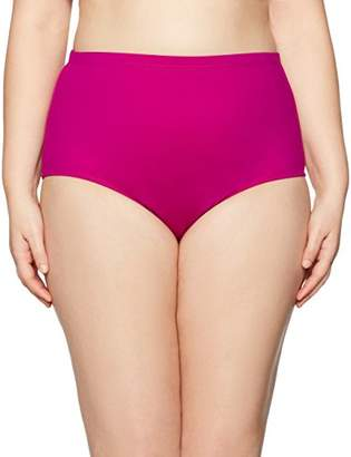 LaBlanca La Blanca Women's Plus Size Island Goddess High Waist Bikini Swimsuit Bottom
