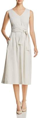 Lafayette 148 New York Aileen Striped Tie-Waist Midi Dress - 100% Exclusive