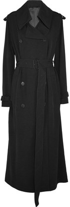 Acne Studios - Lucie Satin-twill Trench Coat - Black $900 thestylecure.com