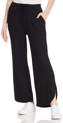 LnA Ribbed Wide-Leg Pants