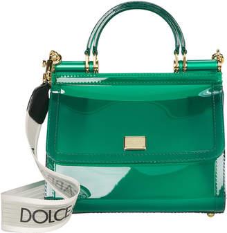 Dolce & Gabbana Sicily Vinyl Crossbody Bag