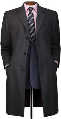 Charles Tyrwhitt Grey Wool and Cashmere OverWool/cashmere coat Size 40