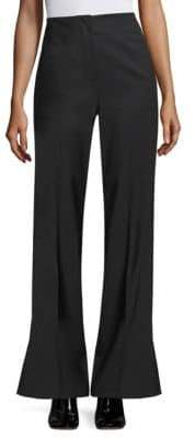 Rebecca Taylor Tuxedo Wool-Blend Flare Pants