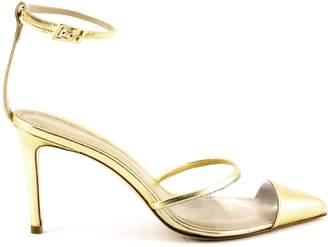 7434757c4634 Aldo Castagna Platinum-tone Laminated High-heel Elise Pumps