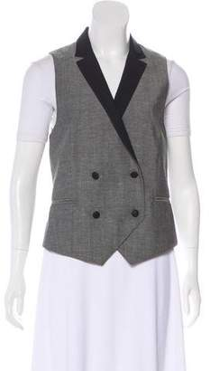 Rag & Bone Wool-Blended Button-Up Vest