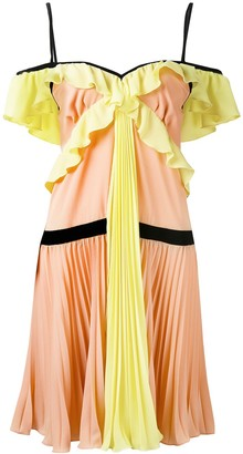 MARCO BOLOGNA crepe georgette pleated dress