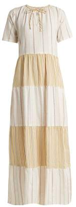 Ace&Jig Ambrosia Panelled Cotton Maxi Dress - Womens - Cream