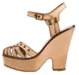 Marc Jacobs Leather Platform Sandals