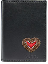 Gucci Heart Embroidered Leather Wallet $320 thestylecure.com