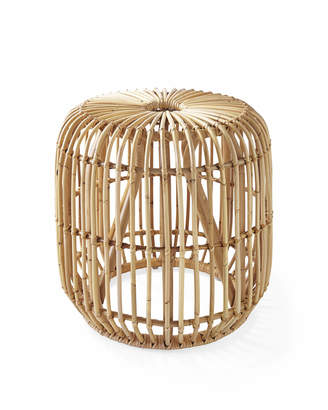 Serena & Lily Pismo Rattan Side Table