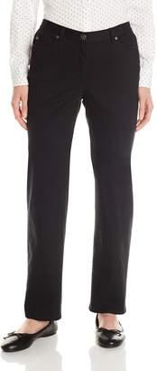 Ruby Rd. Women's Petite Classic Flat Front Denim Jean