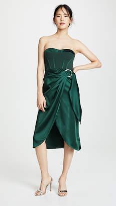 Jonathan Simkhai Bustier Combo Dress