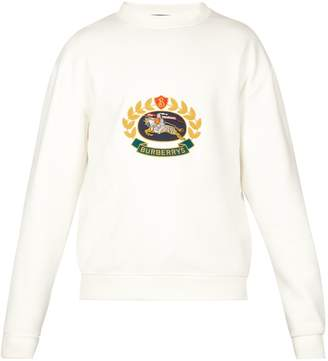 Burberry Unisex crest logo-embroidered sweatshirt