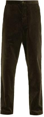 Oliver Spencer Cotton Corduroy Trousers - Mens - Green