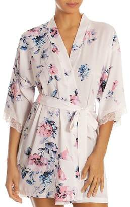Jonquil In Bloom by Shimmery Satin Floral   Lace Wrap Robe 3baf6a0bf