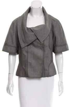 Magaschoni Herringbone Wool Jacket