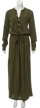 Melissa Odabash Lace-Up Maxi Dress w/ Tags