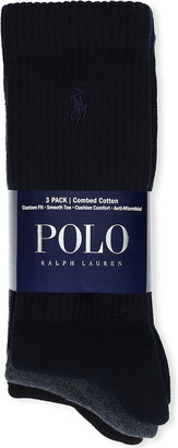 Polo Ralph Lauren Set of three combed cotton socks $25 thestylecure.com