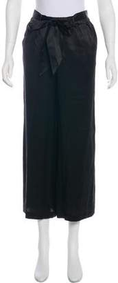 Frame Silk Wide-Leg Pants