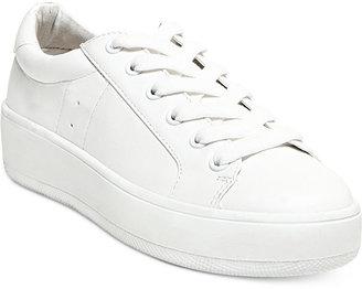 Steve Madden Women's Bertie Lace-Up Sneakers $69 thestylecure.com