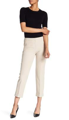 Adrianna Papell Cuffed Slim Fit Mid Rise Pants