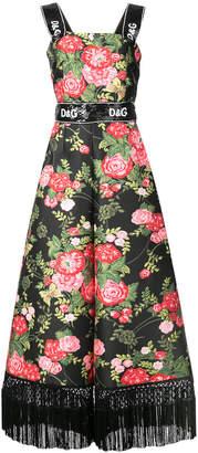 Dolce & Gabbana tassel rose print jumpsuit