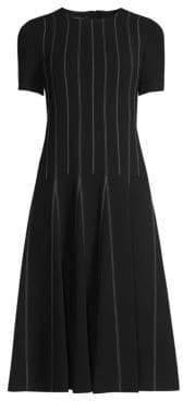 Lafayette 148 New York Malita Drop-Waist Midi Dress